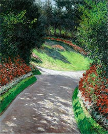 Caillebotte | The Path in the Garden, 1886 | Giclée Canvas Print