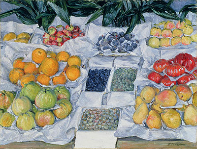 Fruit Displayed on a Stand, c.1881/82 | Caillebotte | Painting Reproduction