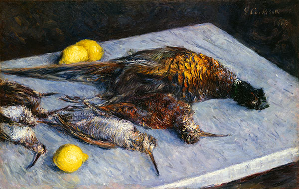 Caillebotte | Game Birds and Lemons, 1883 | Giclée Canvas Print
