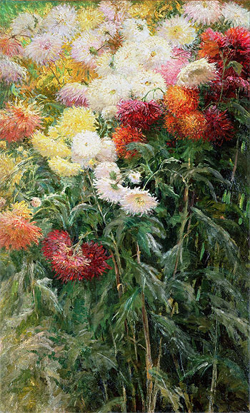 Clump of Chrysanthemums, Garden at Petit Gennevilliers, 1893 | Caillebotte | Painting Reproduction