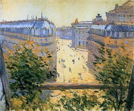 Rue Halevy Balcony View, 1878 | Caillebotte | Giclée Canvas Print