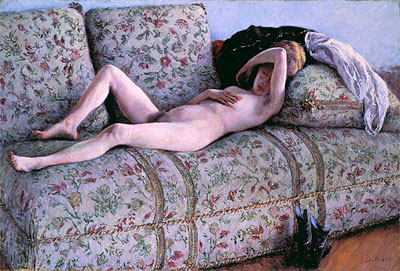 Nude on a Couch, 1890 | Caillebotte | Giclée Canvas Print