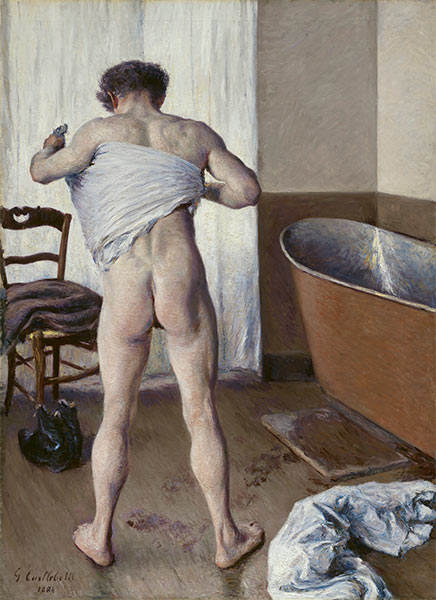 Man at his Bath, 1884 | Caillebotte | Giclée Canvas Print