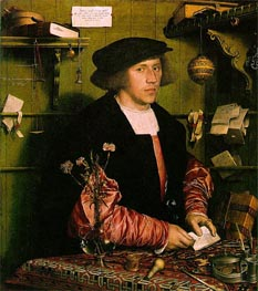 Hans Holbein | Portrait of the Merchant Georg Gisze, 1532 | Giclée Canvas Print
