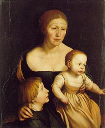 Hans Holbein | The Artist's Wife Elsbeth and her Two Children, c.1528 | Giclée Canvas Print