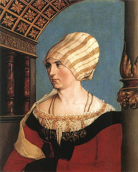 Portrait of Dorothea Meyer, nee Kannengiesser, 1516 | Hans Holbein | Painting Reproduction