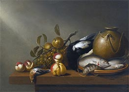 Harmen Steenwijck | Still Life of Fruit, Fish on an earthenware Platter | Giclée Canvas Print