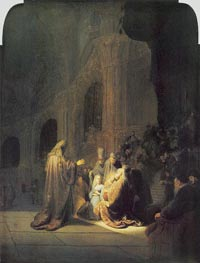 Rembrandt | Simeon in Temple | Giclée Canvas Print