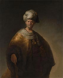 Rembrandt | Man in Oriental Costume (The Noble Slav) | Giclée Canvas Print