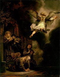 Rembrandt | The Archangel Leaving the Family of Tobias | Giclée Canvas Print