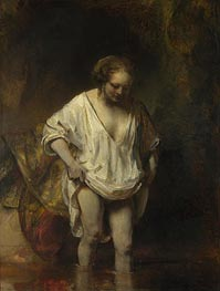 Rembrandt | A Woman Bathing in a Stream (Hendrickje Stoffels), 1654 | Giclée Canvas Print