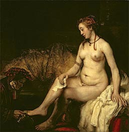 Rembrandt | Bathsheba at Her Bath, 1654 | Giclée Canvas Print