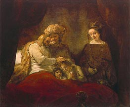 Rembrandt | Jacob Blessing the Children of Joseph, 1656 | Giclée Canvas Print