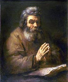 Rembrandt | Old Man Praying, 1661 | Giclée Canvas Print