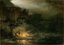 Rembrandt | The Rest of the Flight into Egypt, 1647 | Giclée Canvas Print
