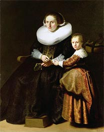 Rembrandt | Susanna van Collen, Wife of Jean Pellicorne with Her Daughter Anna, c.1632 | Giclée Canvas Print