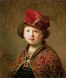 Rembrandt | A Boy in Fanciful Costume, 1633 | Giclée Canvas Print