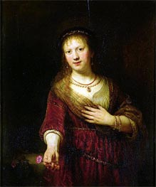 Rembrandt | Saskia with a Red Flower, 1641 | Giclée Canvas Print