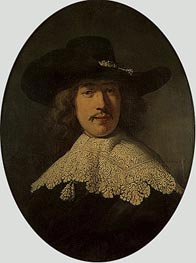 Rembrandt | Portrait of a Young Man with a Lace Collar | Giclée Canvas Print