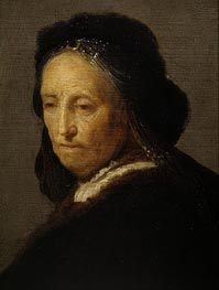 Rembrandt | Study of an Old Woman (Rembrandt's Mother) | Giclée Canvas Print