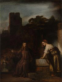 Rembrandt | Christ and the Woman of Samaria, 1655 | Giclée Canvas Print