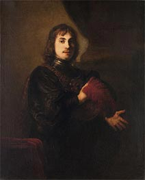 Rembrandt | Portrait of a Man with a Breastplate and Plumed Hat, Undated | Giclée Canvas Print