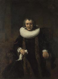 Rembrandt | Portrait of Margaretha de Geer, Wife of Jacob Trip  from Portraits of Jacob Trip and his Wife Margaretha de Geer, c.1661 | Giclée Canvas Print