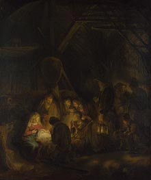 Rembrandt | The Adoration of the Shepherds, 1646 | Giclée Canvas Print