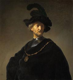 Rembrandt   Old Man with a Gold Chain, 1631   Giclée Canvas Print