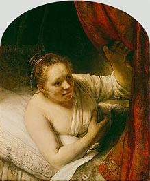 Rembrandt | Sarah Expects Tobias in the Wedding Night | Giclée Canvas Print