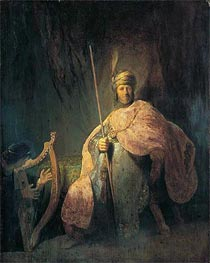 Rembrandt   David Playing the Harp before Saul, c.1630   Giclée Canvas Print