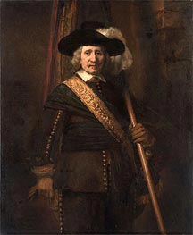 Rembrandt | The Standard Bearer (Floris Soop) | Giclée Canvas Print