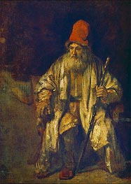 Rembrandt | The Old Man with the Red Cap | Giclée Canvas Print