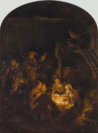 Rembrandt | Adoration of the Shepherds | Giclée Canvas Print