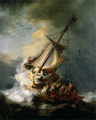 Storm on the Sea of Galilee, 1633 | Rembrandt | Giclée Canvas Print