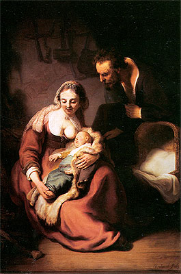 The Holy Family, c.1630 | Rembrandt | Giclée Canvas Print