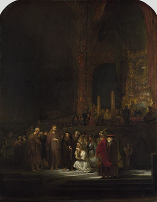 Christ and the Woman Taken in Adultery, 1644 | Rembrandt | Painting Reproduction