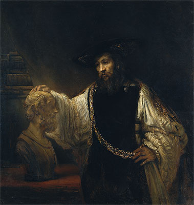 Aristotle with a Bust of Homer, 1653 | Rembrandt | Painting Reproduction