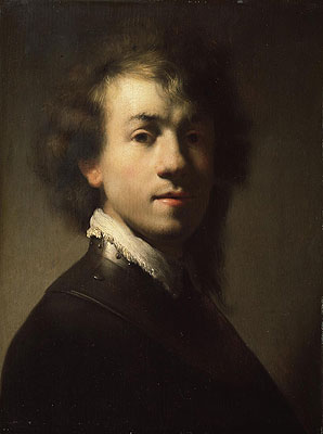 Portrait of Rembrandt at around Age of 23, c.1629 | Rembrandt | Giclée Canvas Print