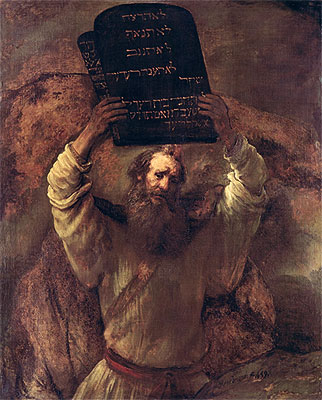 Moses Smashing the Tablets of the Law, 1659   Rembrandt   Painting Reproduction