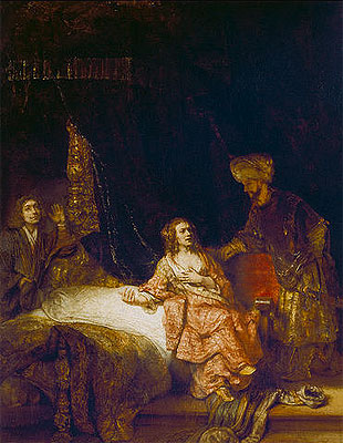 Joseph Accused by Potiphar's Wife, 1655 | Rembrandt | Giclée Canvas Print