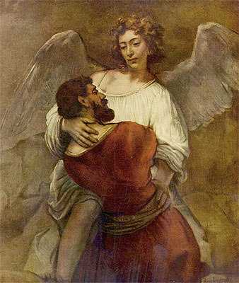 Jacob Wrestling with the Angel, c.1659/60 | Rembrandt | Giclée Canvas Print