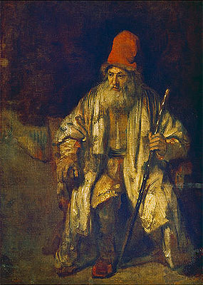 The Old Man with the Red Cap, undated | Rembrandt | Giclée Canvas Print