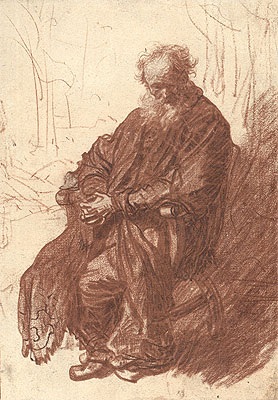 Old Man Seated in an Armchair, c.1631 | Rembrandt | Giclée Paper Print