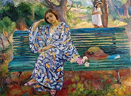 Henri Lebasque | On the Green Bank, Sanary, 1911 | Giclée Canvas Print