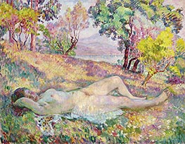 Henri Lebasque | The Resting in Saint-Tropez, 1906 | Giclée Canvas Print