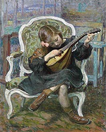 Henri Lebasque | The Little Mandolinist | Giclée Canvas Print