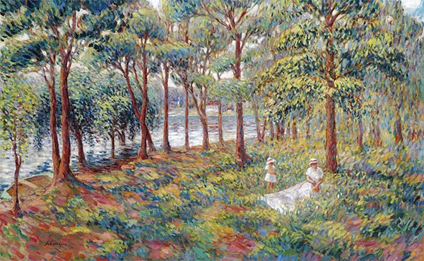 Madame Lebasque and Her Daughter at the Edge of the Marne, c.1899 | Henri Lebasque | Giclée Canvas Print