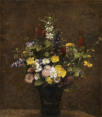 Wild Flowers, 1879 | Fantin-Latour | Painting Reproduction