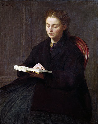 Reading, 1863 | Fantin-Latour | Painting Reproduction
